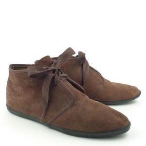 Vintage Keds Essentials Brown Suede Ankle Booties